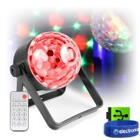 beamz PLS35 DJ Disco Light DMX Jellyball USB Rechargeable RGB-UV LED with Remote