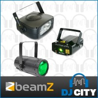 BeamZ Light Package 4: Moon Flower + Laser Red and Green + Stroboscope 150W