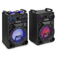 "FENTON VS12 Active Speaker Set 12"" Bluetooth, LED 1200W"