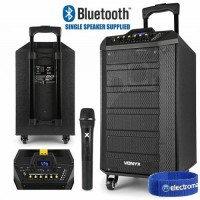 Vonyx VPS10 Portable Sound System 10'' with Bluetooth
